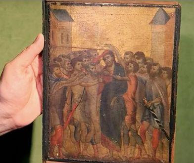 Obraz prawdopodobnie stanowi część większej całości, stworzonej przez malarza
