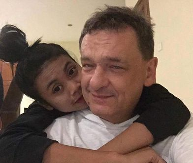 Piotr Tymochowicz i jego dziecko / żona. Sorry, to obrzydliwe