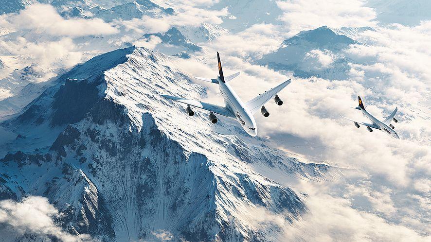 Wizualizacja w aplikacji Terragen, Marcin Gruszczyk, © Deutsche Lufthansa AG.