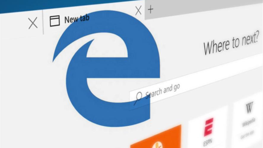 Microsoft Edge z 5 nowymi rozszerzeniami, wszystkich jest tylko 35