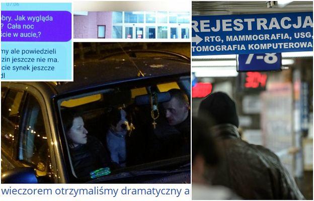 """""""Sk**wysyństwo"""". Matka nocuje w samochodzie przed szpitalem, w którym UMIERA jej dziecko"""