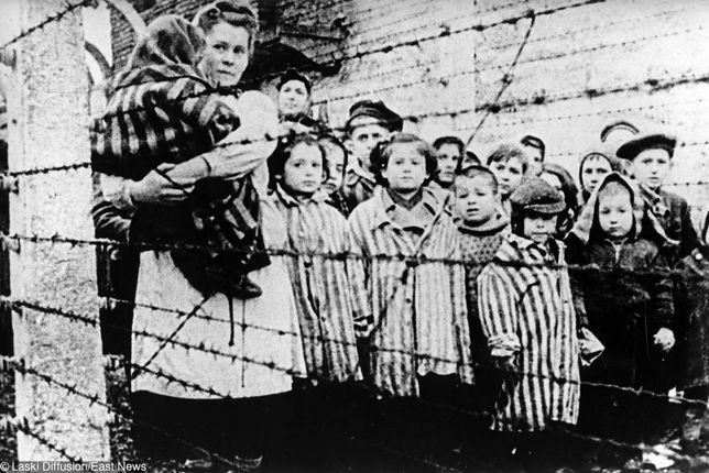 Dzieci w obozie koncentracyjnym