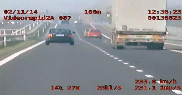 Pirat pędził ponad 230 km/h koło Gorzowa
