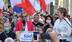 Wybory prezydenckie 2020. Żona Rafała Trzaskowskiego wypowiedziała się na spotkaniu z wyborcami w Łodzi