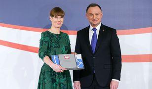 Prezydenci: Estonii Kersti Kaljulaid i Polski Andrzej Duda
