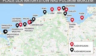 Wypoczywający nad polskim morzem mogą skorzystać z kilku oznaczonych plaż, na których obowiązują stroje Adama i Ewy