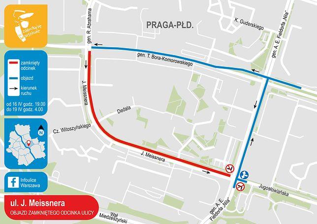 Warszawa. W weekend rozpocznie się wymiana nawierzchni ul. Meissnera