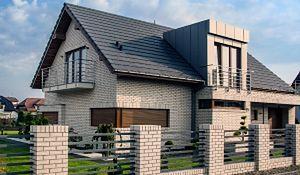 Nowoczesny dom jednorodzinny z elewacją z klinkieru