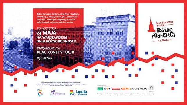 Warszawski Dzień Różnorodności na placu Konstytucji