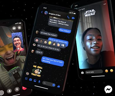 Facebook z motywami z Gwiezdnych Wojen