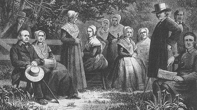Grupa tzw. Shakerów na grafice z drugiej połowy XIX wieku