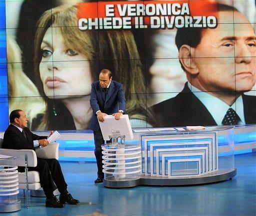 Plakaty z żoną Berlusconiego jako kandydatką opozycji