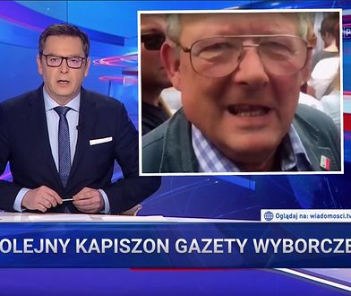 """""""Wiadomości"""" murem za Obajtkiem. Uwagę widzów skupili na Michniku"""