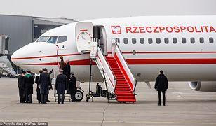 """Boeing 737-800NG """"Józef Piłsudski"""" na warszawskim Okęciu"""