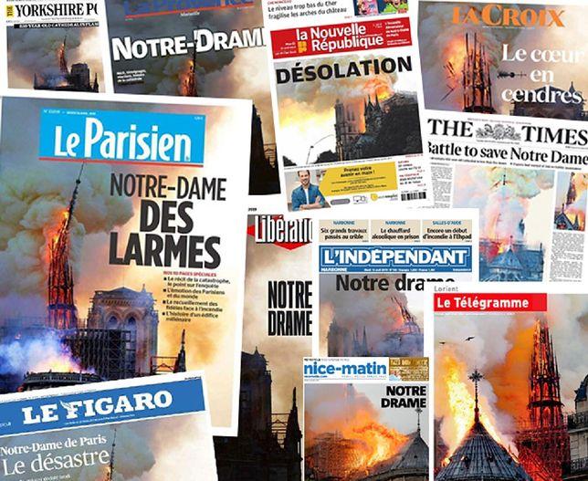 Katedra Notre Dame w ogniu. Francuzi piszą o katastrofie