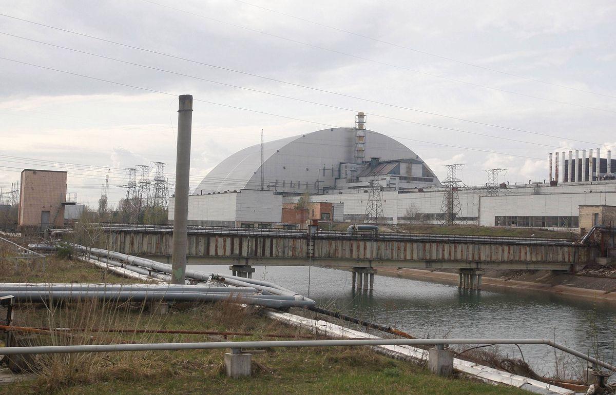 Nowy sarkofag w Czarnobylu. Teren strefy wykluczonej