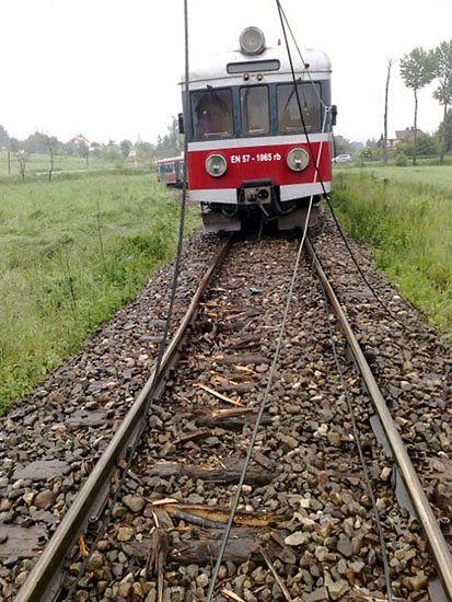Pociąg wykoleił się w Tuchowie