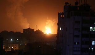 Bombardowanie Strefy Gazy jest odpowiedzią na atak rakietowy na Tel Awiw