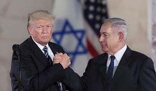 Prezydent Donald Trump i premier Izraela Beniamin Netanjahu