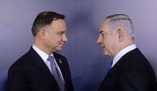 Andrzej Duda i Beniamin Netanjahu spotkali się w lutym na konferencji w Warszawie