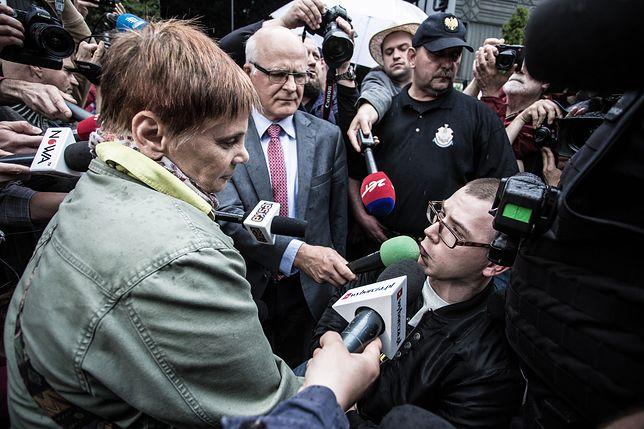 W środę Adrian i Kuba widzieli się z Janiną Ochojską przed Sejmem