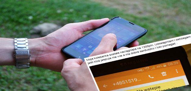 SMS od oszustów może kosztować nawet 1300 złotych