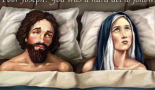 Kontrowersyjny billboard - Józef z Maryją w łóżku...