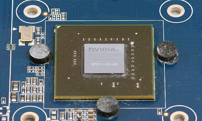 Nvidia GT240 - chip BGA na mojej karcie