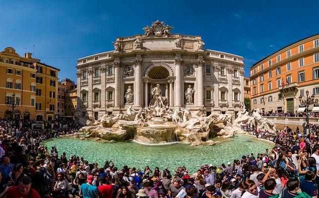 Fontanna di Trevi to jedna z największych atrakcji  Rzymu