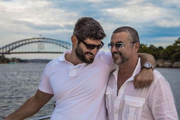 George Michael z partnerem