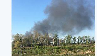 Pożar w Siemianowicach Śląskich. Ogromny dym