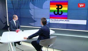 """Polska Walcząca na tle tęczy. Adam Bielan w programie """"Tłit"""" o """"prowokacji"""" Piotra Misiły"""