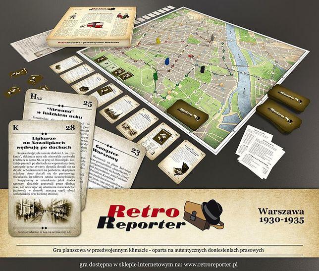 RetroReporter - gra planszowa, poświęcona przedwojennej Warszawie