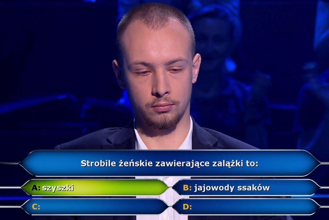 """Pan Konrad wziął udział w """"Milionerach"""""""