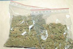 Dziadek wiózł wnuki oraz ponad kilogram marihuany