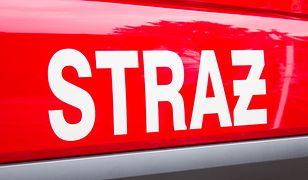 11 zastępów straży gasiło pożar w warsztacie