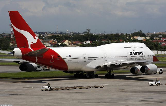 Australia. Samolot linii Qantas awaryjnie lądował w Sydney (zdj. archiwalne)