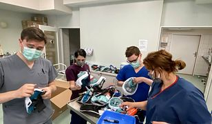 Uniwersytecki Szpital Kliniczny we Wrocławiu dziękuje za maski dla nurków. Po przeróbkach zostały podstawą sprzętu medycznego