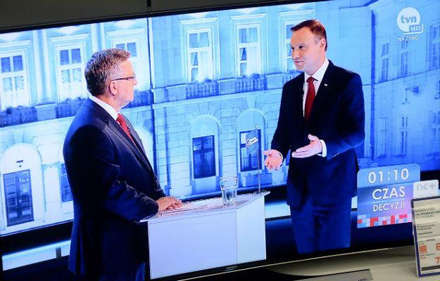 Bronisław Komorowski i Andrzej Duda podczas debaty