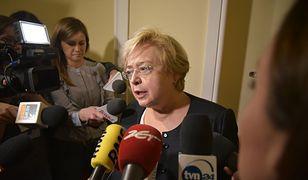 Małgorzata Gersdorf w przerwie obrad sejmowej komisji nad ustawami o KRS i SN.