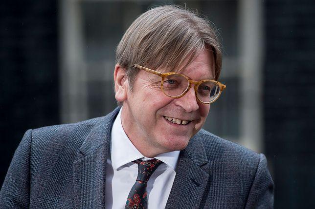 Guy Verhofstadt jest zaciekłym krytykiem rządu PiS