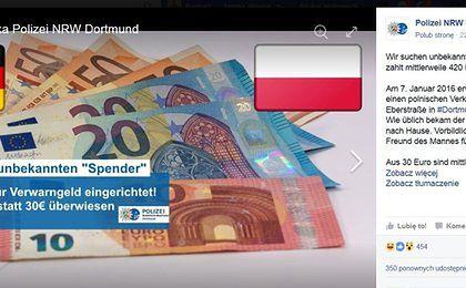 Niemiecka policja szuka Polaka, który... co miesiąc płaci za mandat