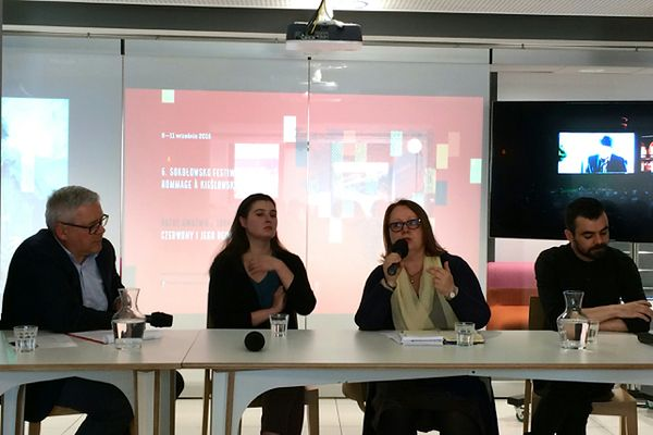 Dorota Pacciarelli prezentuje nową formułę Festiwalu Hommage à Kieślowski w Narodowym Instytycie Audiowizualnym