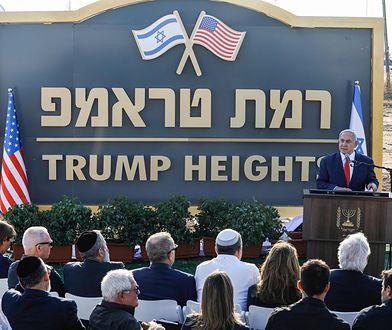 """Izrael buduje """"Wzgórza Trumpa"""". Netanjahu dziękuje za pomoc w wyborach, ale potrzebuje więcej"""