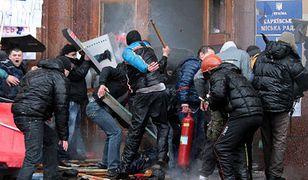 Demonstracje i starcia na wschodzie Ukrainy