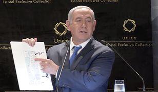 """Premier Netanjahu chwali się mapą z podpisem Trumpa. """"Ładnie"""""""