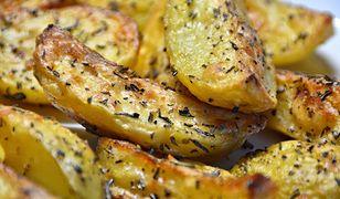 Łódeczki z ziemniaków pieczone z rozmarynem