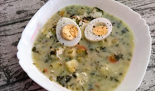 Zupa szczawiowa na bogato. W sam raz na wiosnę