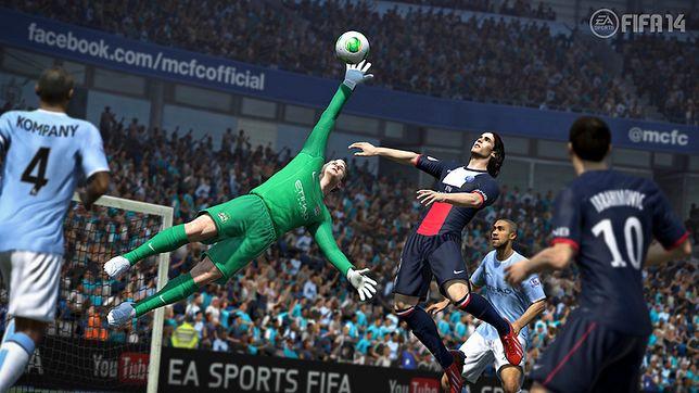 Gry sportowe - kadr z gry FIFA-14