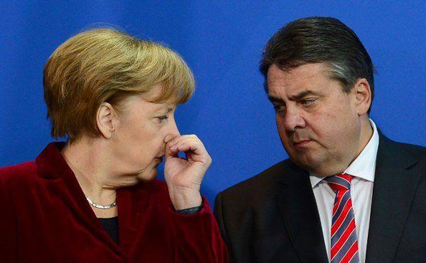 Angela Merkel i Sigmar Gabriel